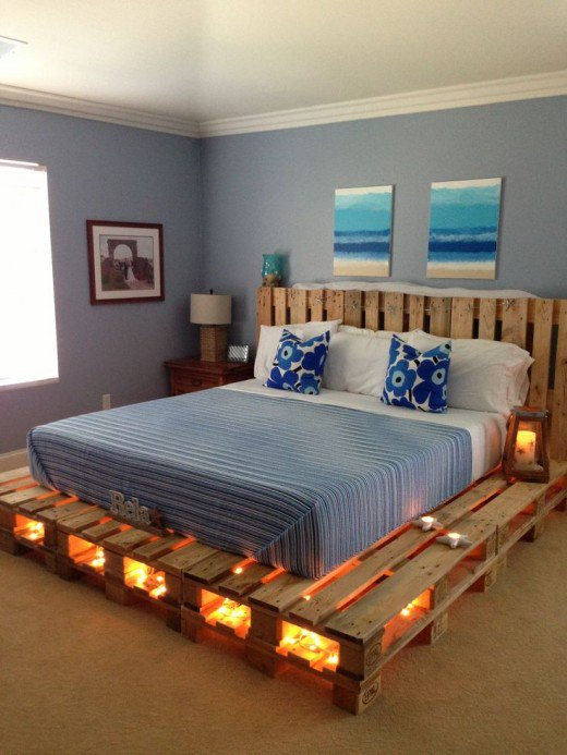 diy pallet bed idea