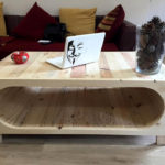 pallet coffee table with inside storage space