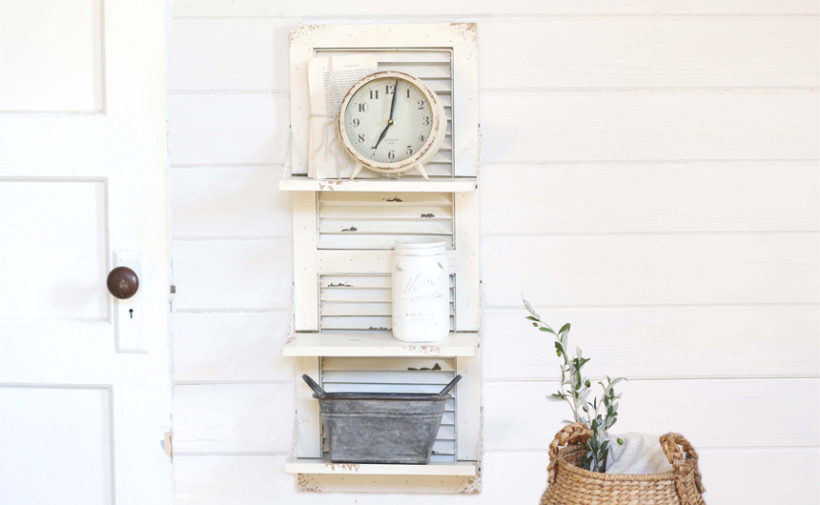 DIY shutter shelf ideas